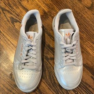 Adidas continental 80 Silver Rose gold size 7.5